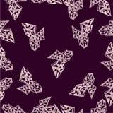 Abstract naadloos patroon met elementen in hand-drawn stijl Stock Afbeeldingen