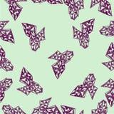 Abstract naadloos patroon met elementen in hand-drawn stijl Royalty-vrije Stock Foto