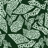 Abstract naadloos patroon met elementen in hand-drawn stijl Stock Foto's