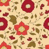 Abstract naadloos patroon met flowerss Stock Afbeelding