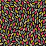 Abstract naadloos patroon met gekleurde bladeren stock illustratie