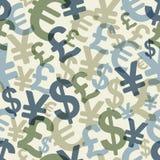 Abstract naadloos patroon met geld Stock Afbeeldingen