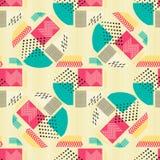 Abstract naadloos patroon met geometrische cijfers aangaande beige achtergrond Geometrische samenstelling voor druk op het docume Stock Fotografie