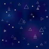 Abstract naadloos patroon met geometrische vormen royalty-vrije illustratie
