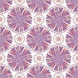Abstract naadloos patroon met gestreepte cirkels Royalty-vrije Stock Afbeelding