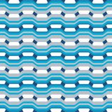 Abstract naadloos patroon met golven en krommen van geometrische vormen stock illustratie