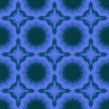 Abstract naadloos patroon met golvende ringen vectorillustratie in blauw vector illustratie