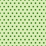 Abstract Naadloos Patroon met Groen Dots Background Cute Ornament For Patrick Day Holiday vector illustratie