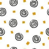 Abstract naadloos patroon met hand getrokken cirkels vector illustratie