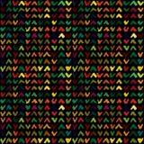 Abstract naadloos patroon met hand getrokken controletekens Royalty-vrije Stock Foto