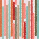 Abstract naadloos patroon met hand getrokken kleurrijke strepen Vector Royalty-vrije Stock Afbeeldingen