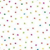 Abstract naadloos patroon met hand getrokken stip Royalty-vrije Stock Afbeeldingen