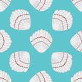 Abstract naadloos patroon met hand getrokken zeeschelpen Stock Fotografie