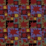 Abstract naadloos patroon met helder mozaïekpatroon Vector Illustratie