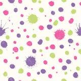 Abstract naadloos patroon met heldere kleurrijke hand getrokken vlekken royalty-vrije illustratie