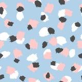 Abstract naadloos patroon met herhaalde penseelstreken Grunge, watercolour, schets, verf Royalty-vrije Stock Afbeelding