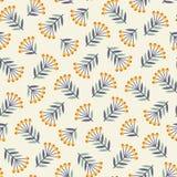 Abstract naadloos patroon met installaties Stock Afbeeldingen