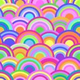 Abstract naadloos patroon met kleurrijke cirkels Royalty-vrije Stock Afbeelding