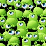 Abstract naadloos patroon met leuke monsters Stock Afbeelding
