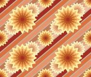 Abstract naadloos patroon met lijnen en bloemen. Stock Afbeeldingen