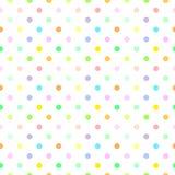 Abstract naadloos patroon met punten Stock Foto