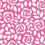 Abstract naadloos patroon met rozen Bloemenachtergrond met leuke bloemen en bladeren Royalty-vrije Stock Afbeeldingen