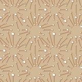 Abstract naadloos patroon met stralen en lijnen op gekleurde achtergrond Eenvoudig vectorornament voor textiel, verpakkend docume stock illustratie