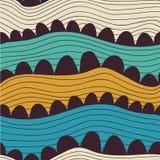 Abstract naadloos patroon met strepen en cirkels, kleurrijke overzees Royalty-vrije Stock Foto