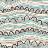 Abstract naadloos patroon met strepen en cirkels, kleurrijke overzees Stock Foto