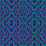 Abstract naadloos patroon met strepen en glasdalingen in de geometrische vormen geweven en kleuren! Eigentijds ornament Stock Foto