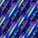 Abstract naadloos patroon met strepen en glasdalingen of luchtbellen Eigentijdse eindeloze achtergrond Royalty-vrije Stock Fotografie