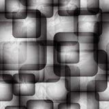 Abstract naadloos patroon met transparante vierkanten vector illustratie