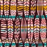 Abstract naadloos patroon met tropische bladeren Stock Afbeeldingen