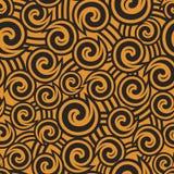 Abstract naadloos patroon met vormen en strepen Royalty-vrije Stock Afbeelding