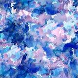 Abstract naadloos patroon met waterverftekening Stock Foto's