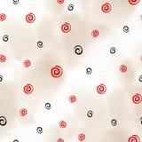 Abstract naadloos patroon met waterverftekening in krabbelstijl Illustratie Stock Foto