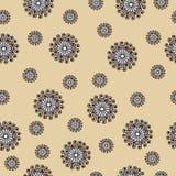 Abstract naadloos patroon met wervelingen Royalty-vrije Stock Afbeeldingen