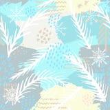 In abstract naadloos patroon Modern abstract ontwerp voor document, behang, dekking, stof en andere gebruikers Vector illustratie Royalty-vrije Stock Foto