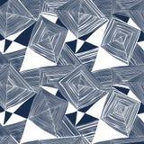 Abstract naadloos patroon op een witte achtergrond met een grafisch patroon Royalty-vrije Stock Afbeelding