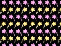 Abstract naadloos patroon op een zwarte achtergrond Royalty-vrije Stock Fotografie