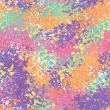 Abstract Naadloos Patroon Ploeter borstelachtergrond Kleurenbrus stock illustratie