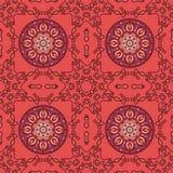Abstract Naadloos Patroon Uitstekend Ornamentpatroon Islamitisch, AR stock illustratie