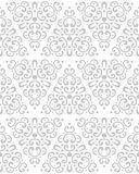 Abstract naadloos patroon in uitstekende stijl Het met elkaar verbinden vormen en texturen royalty-vrije illustratie