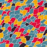 Abstract naadloos patroon van blauw Stock Foto