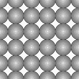 Abstract naadloos patroon van cirkels Royalty-vrije Stock Afbeeldingen