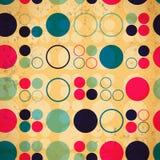 Abstract naadloos patroon van cirkels Stock Afbeelding