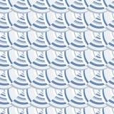 Abstract naadloos patroon van de rond gemaakte lijnen en de vormen stock illustratie