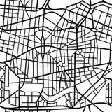Abstract naadloos patroon van een fictieve stadskaart Stock Afbeeldingen