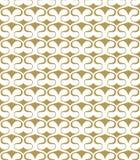 Abstract naadloos patroon van eenvoudige vormen Uitstekend patroon van het kronkelen van vormen royalty-vrije illustratie