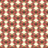 Abstract naadloos patroon van geometrische vormen Stock Foto's